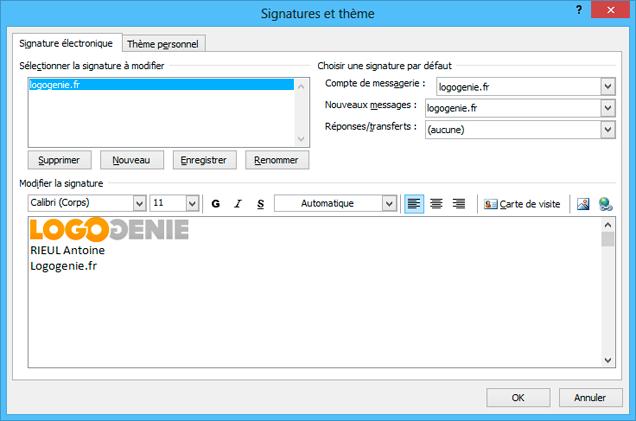 Comment Ajouter Un Logo Une Signature Outlook