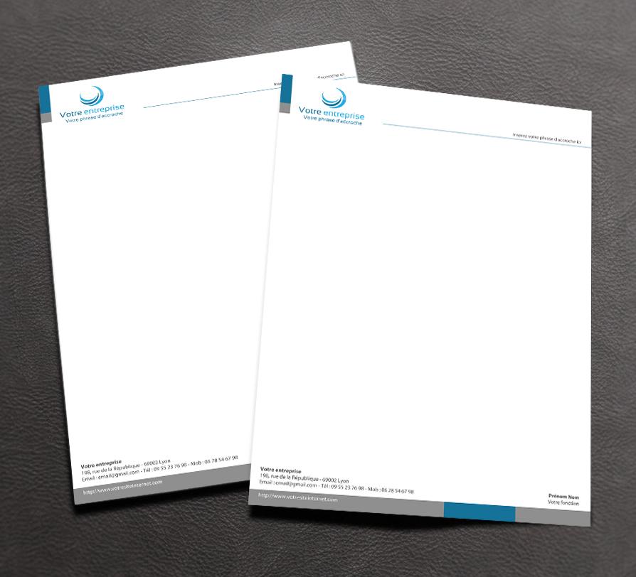 mockup papier  u00e0 lettre